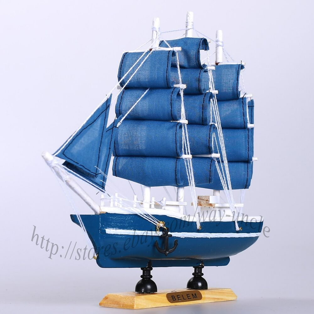 9 wood sailboat sailing boat nautical decor ship model for Decoration yacht
