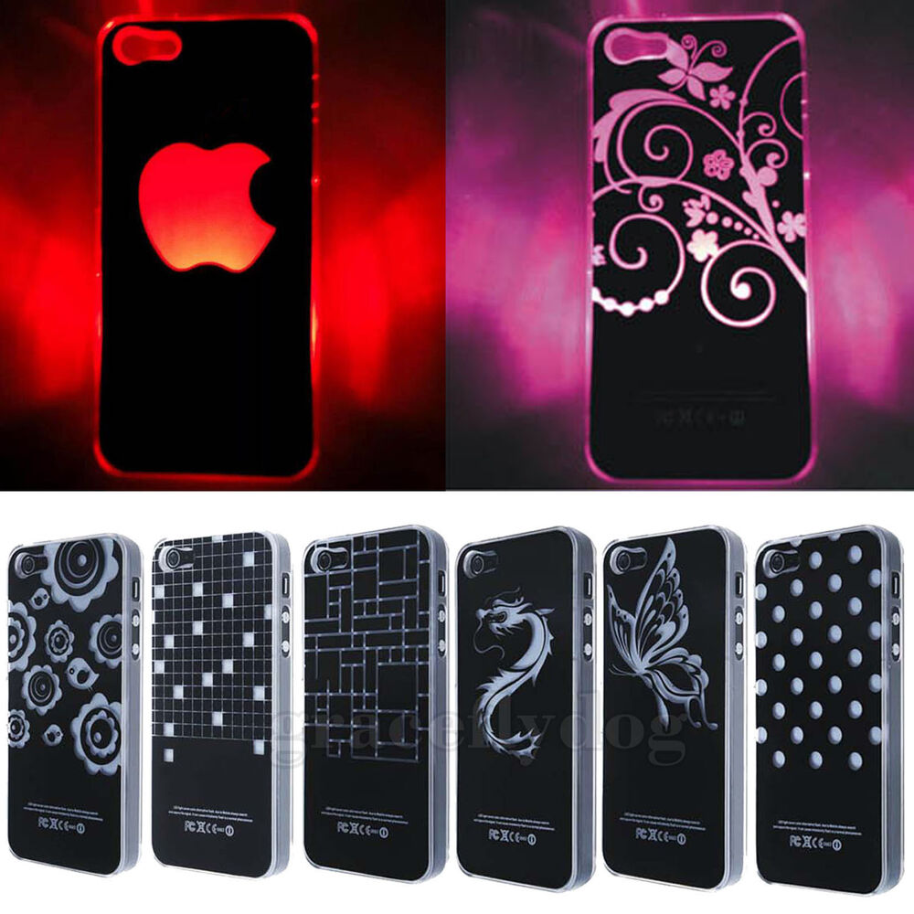 iphone led case 10 patterns flash up light led cover for iphone 4 4s 11984