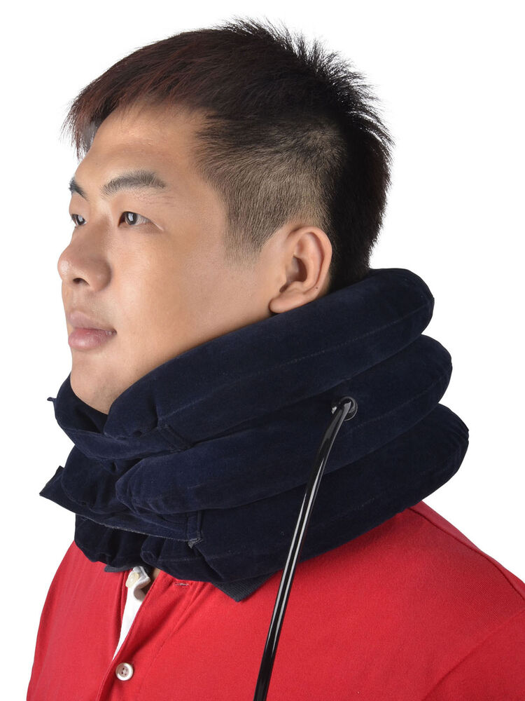 New Neck Traction Collar Portable Inflatable Device Relax