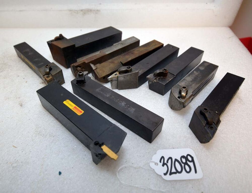 Lot Of 10 Used Turning Amp Boring Insert Tool Holders Inv
