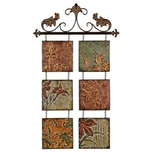 Metal Wall Decor Botanical Scroll Metal-(99204) New