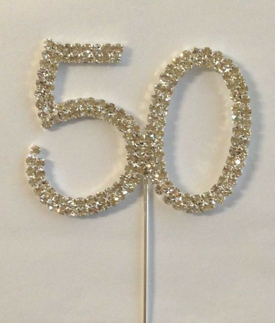 Diamante Cake Toppers Numbers