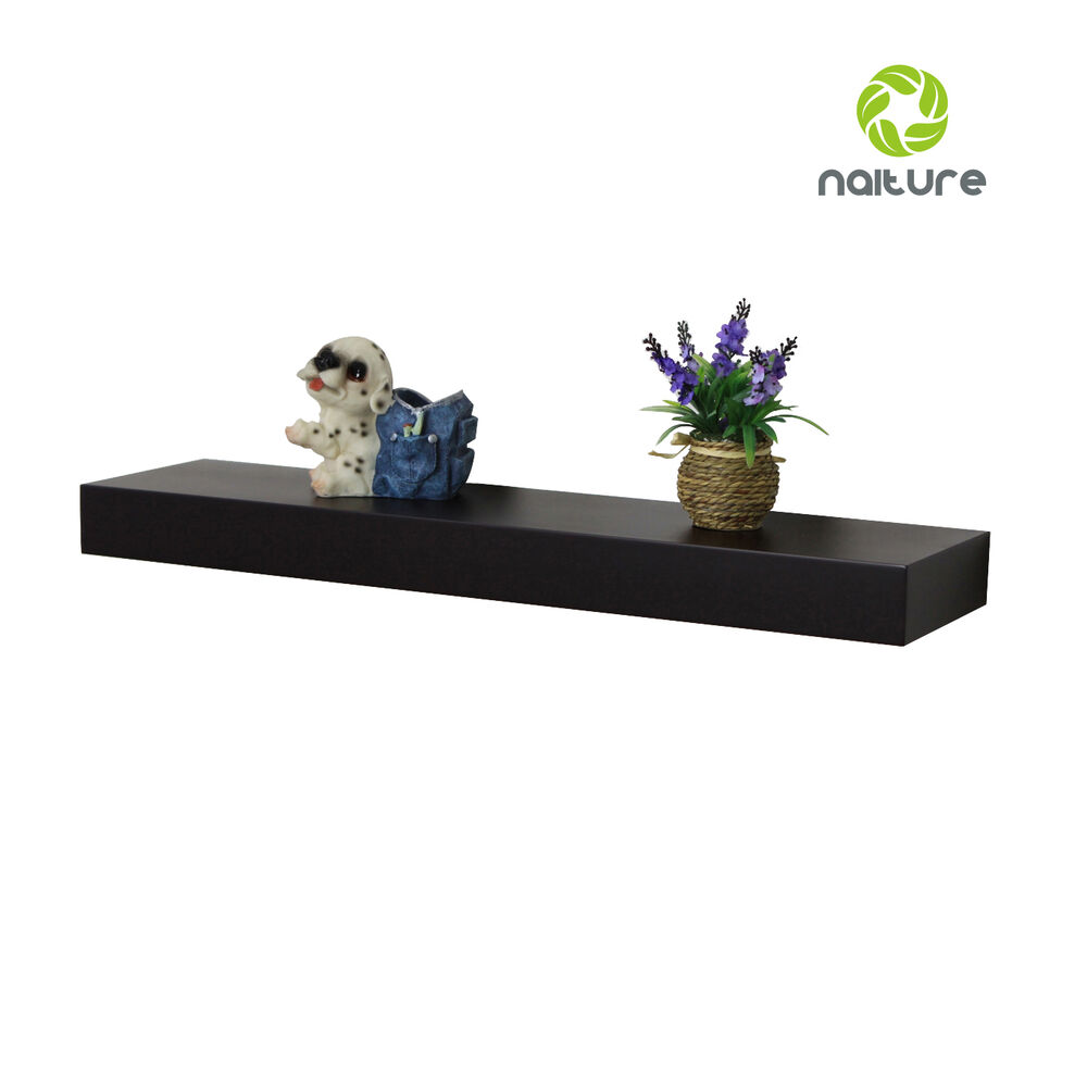 6 D X 2 H Inch Floating Wall Mounted Shelf With 24 36