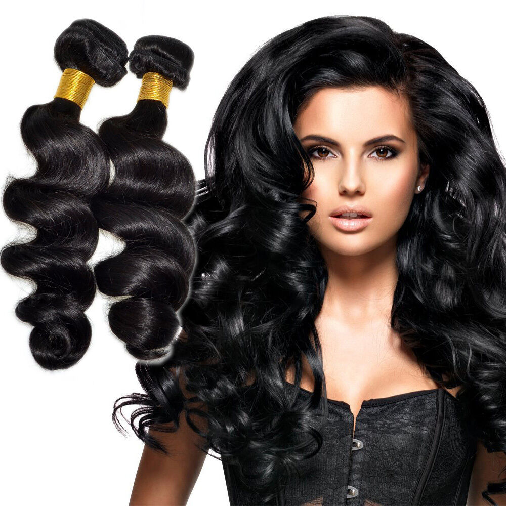 100% Virgin Brazilian Loose Wave Human Hair Extension 100g