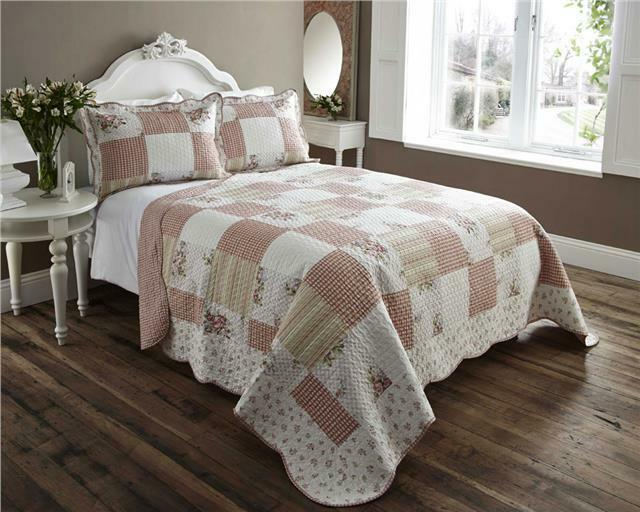 Double Bed Throw Bedspread Quilt Set Amp Pillow Shams