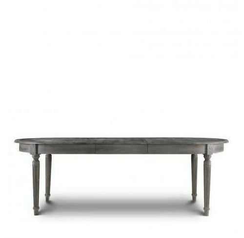 72quot Oval Maison Dining Table solid oak weathered dark grey  : s l1000 from www.ebay.com size 500 x 489 jpeg 9kB
