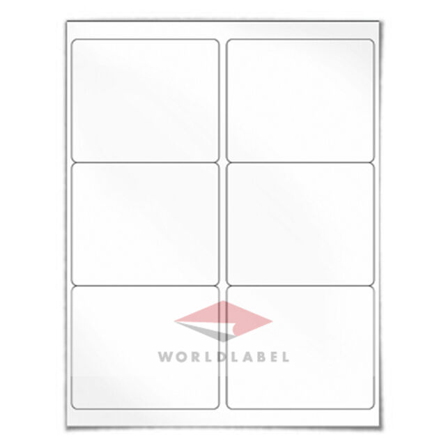 600 labels 4 x 3 33 blank shipping labels uses 5164 8164 for Avery 4 up label template