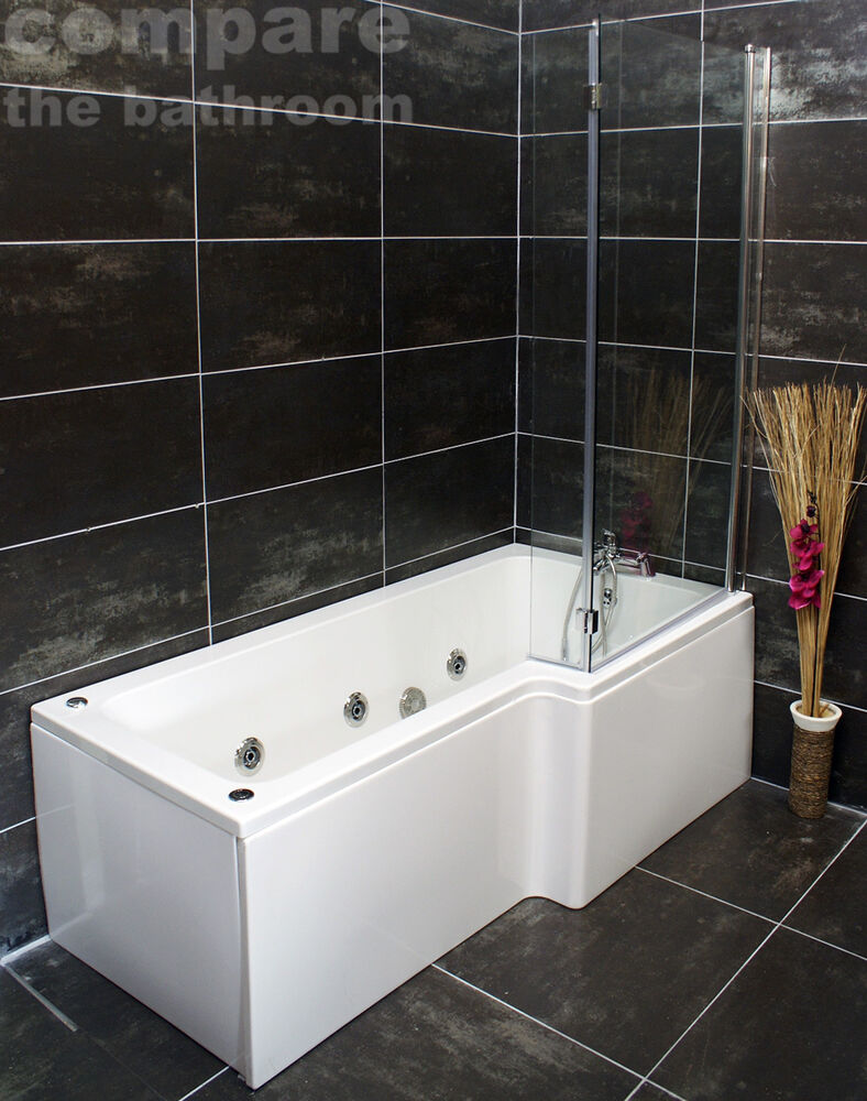 L Shape Whirlpool Showerbath Jacuzzi Style Jets With