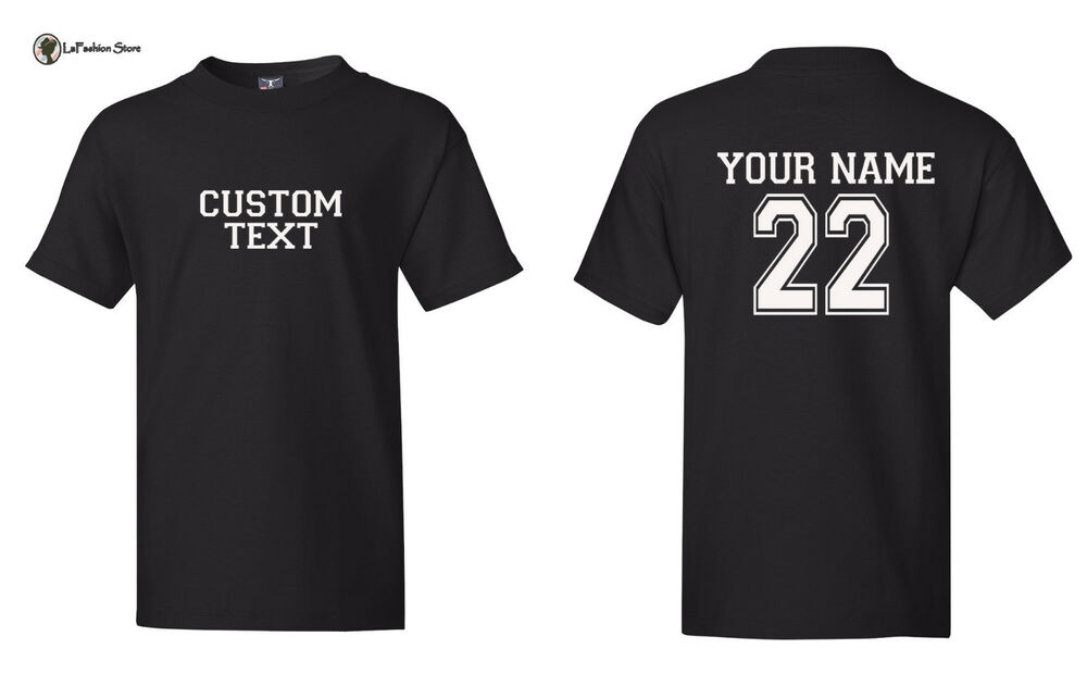 Custom Kids Personalized Text And Number Sports Team