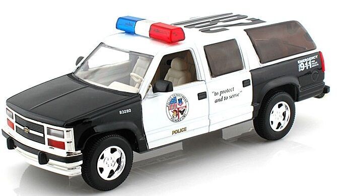 Ford Explorer 1998 >> Superior 1/24 Police Chevrolet Suburban - Great For Collections or Customs | eBay