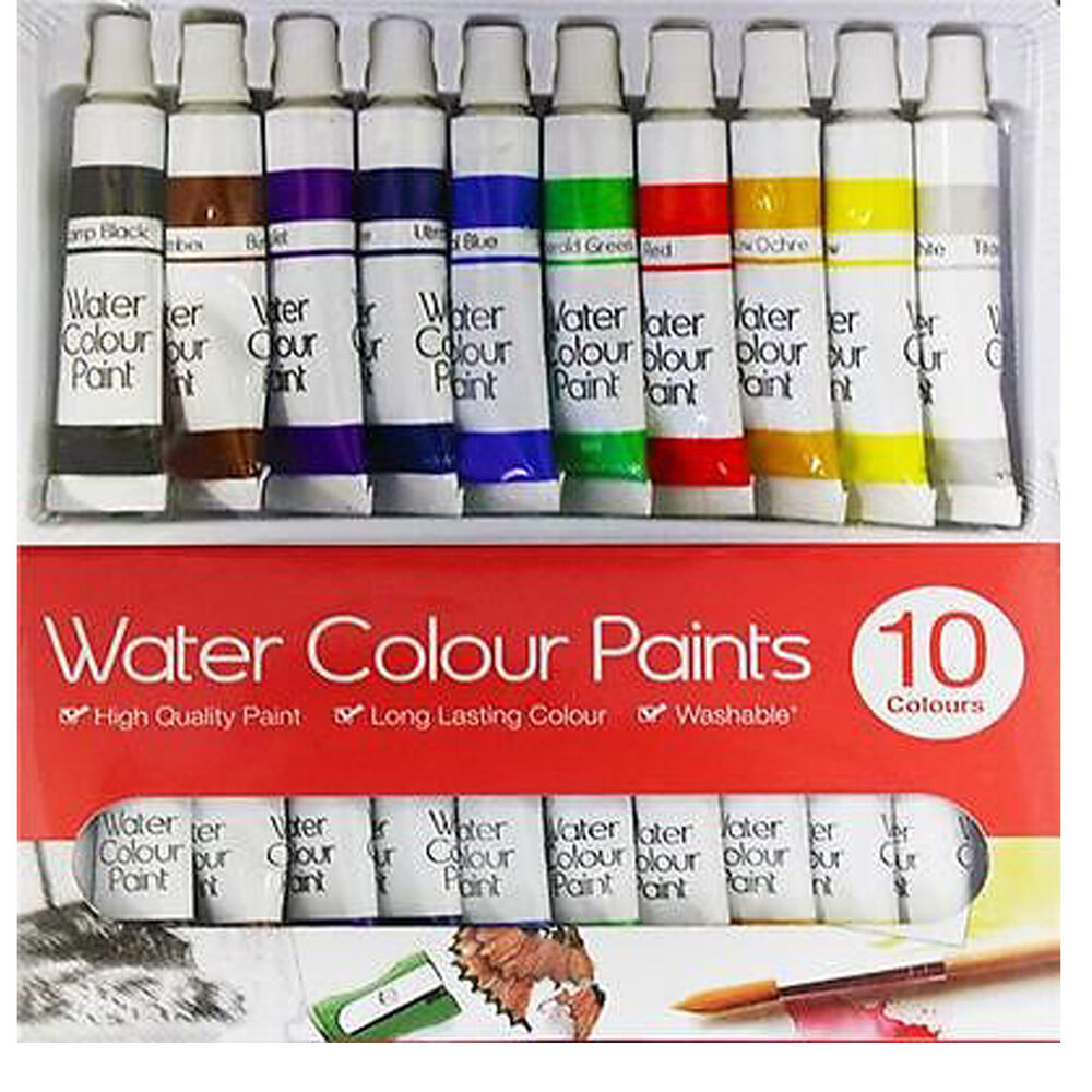 New 10 pack 6ml tube water colour art crafts paint set for Arts and craft paint