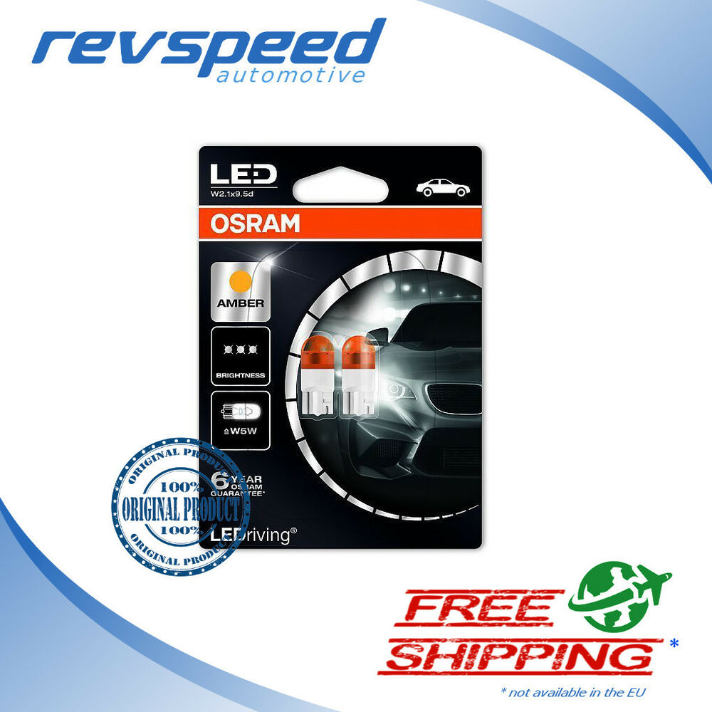 osram led bulbs t10 ledriving w5w amber yellow 2000k turn. Black Bedroom Furniture Sets. Home Design Ideas