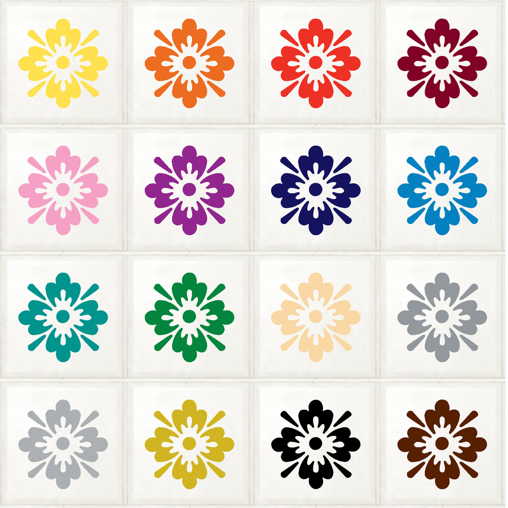 Floral Flower Stickers Transfers Decal For Kitchen
