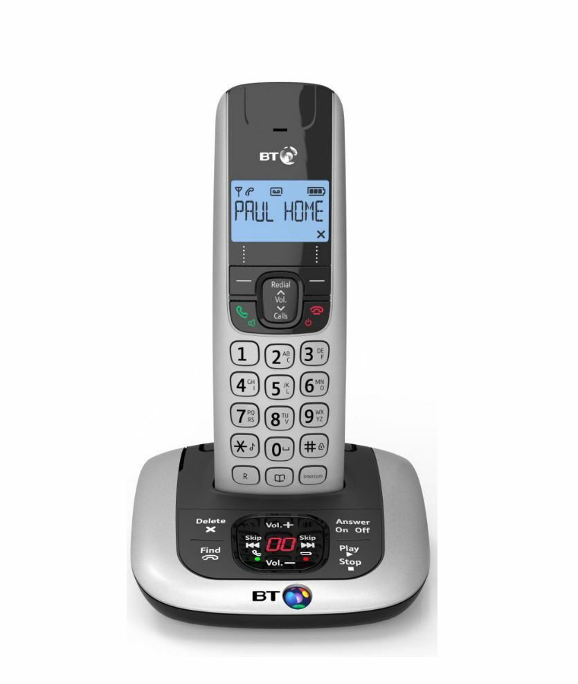 bt 3520 single digital cordless telephone with handsfree and answering machine 5016351616352 ebay. Black Bedroom Furniture Sets. Home Design Ideas