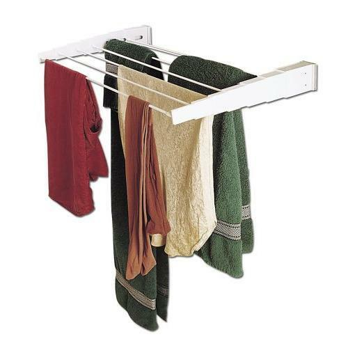 household essentials wall mount telescoping indoor clothes drying rack new ebay. Black Bedroom Furniture Sets. Home Design Ideas