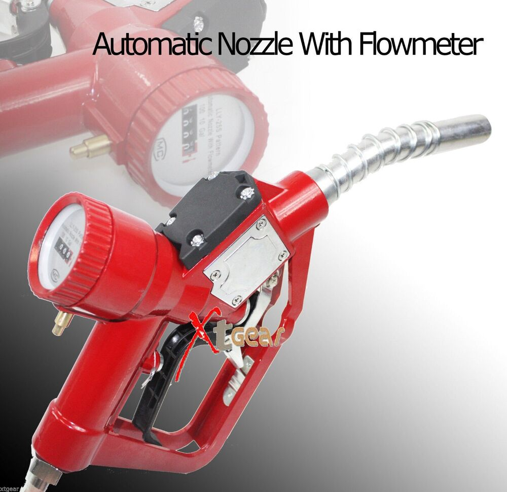 New fuel gasoline diesel petrol delivery flow meter nozzle