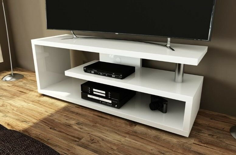 fernsehregal lowboard 120cm fernsehtisch fernsehrack tv rack tisch regal m bel ebay. Black Bedroom Furniture Sets. Home Design Ideas