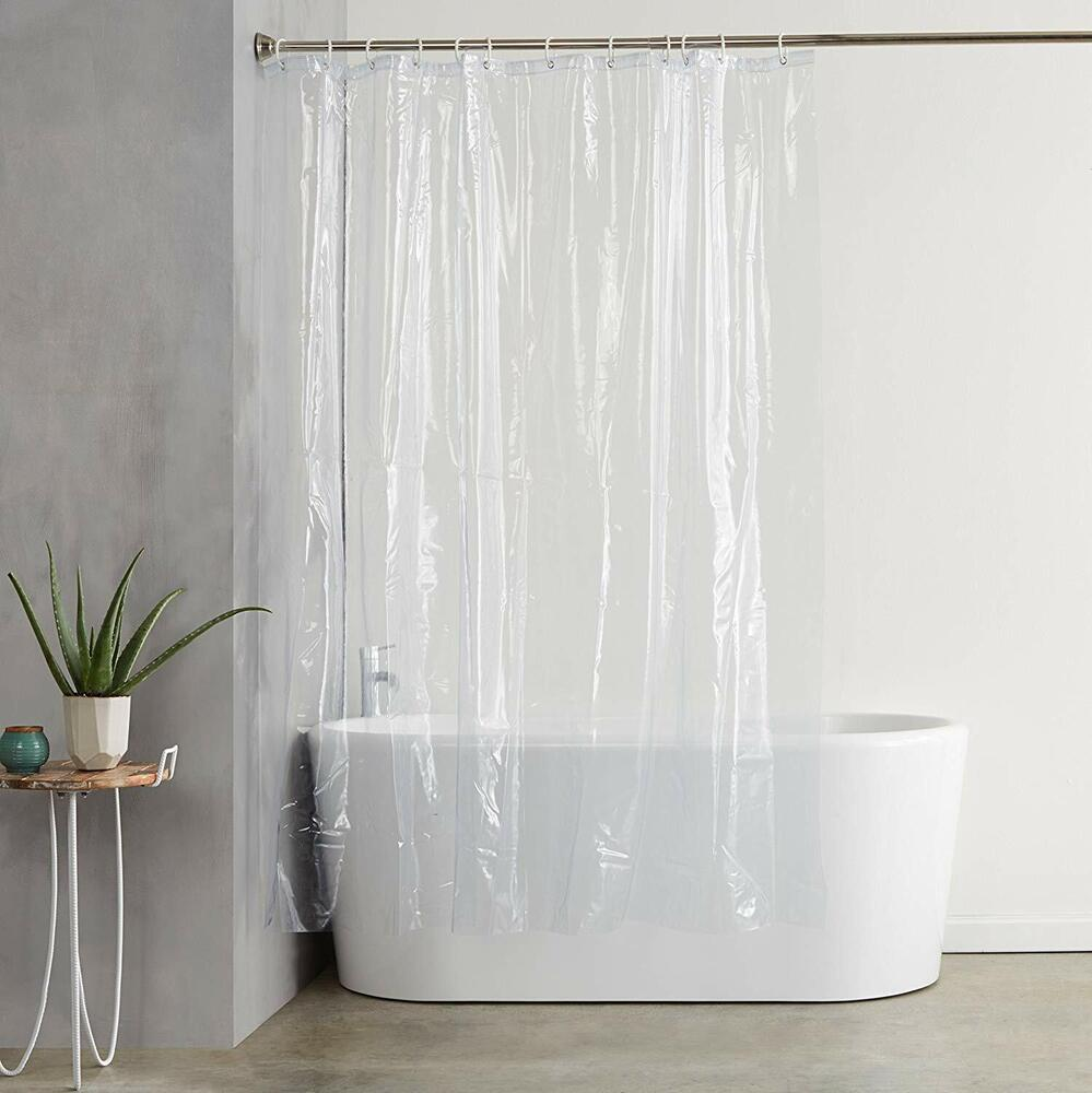 "Deluxe Quality Shower Curtain Liner Clear 70""W X 71""L"