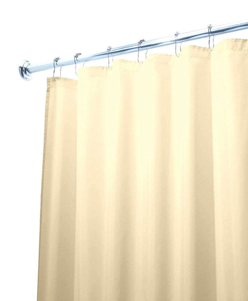 "Deluxe Quality Shower Curtain Liner Beige 70""W x 71""L Mildew Resistant ..."