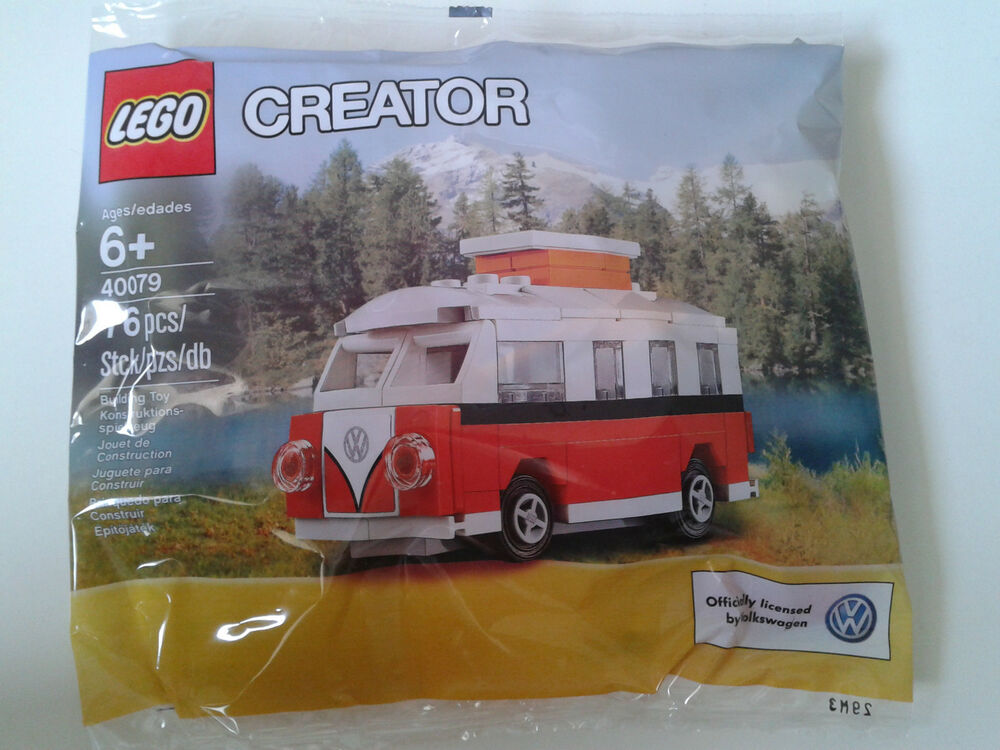 lego polly bag set 40079 volkswagen mini t1 camper van. Black Bedroom Furniture Sets. Home Design Ideas