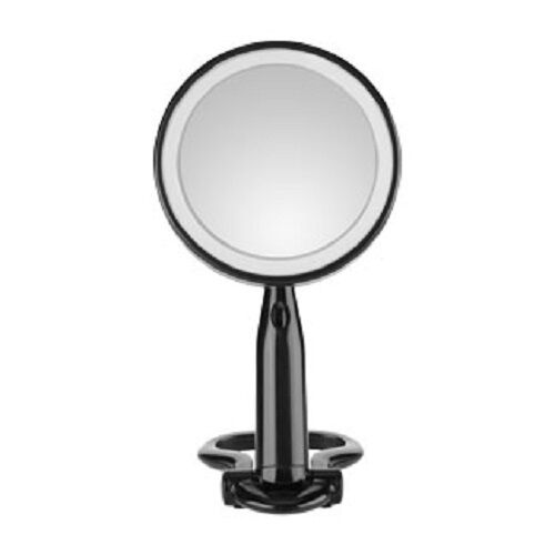 conair reflect 3x 1x magnifying 5 5 makeup mirror led lighted black. Black Bedroom Furniture Sets. Home Design Ideas