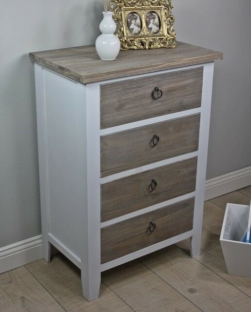 dresser cabinet white brown antique wood rustic farmhouse sideboard solid new ebay