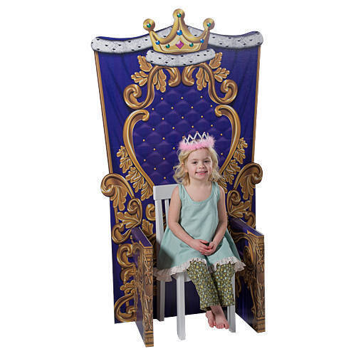 Queen or king child size chair photo prop cardboard cutout for Diy king throne chair