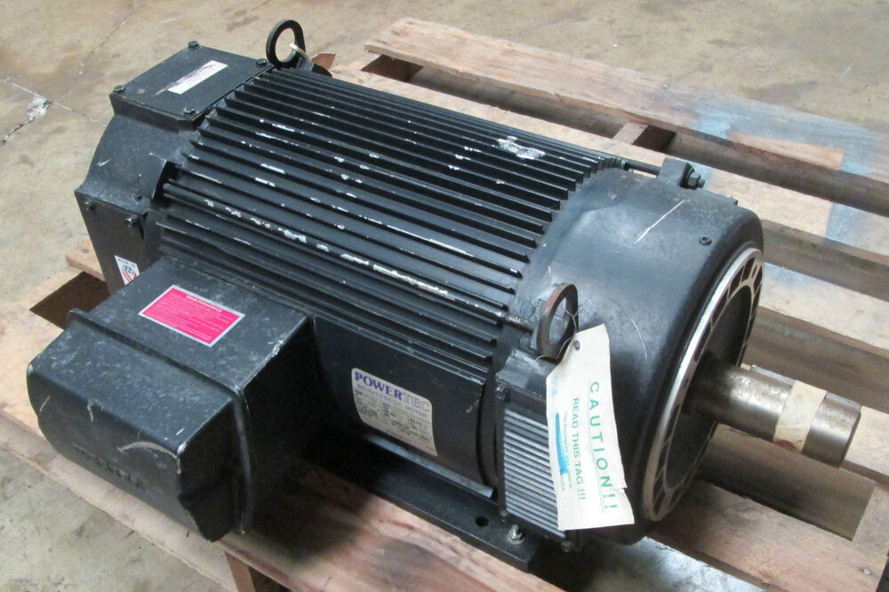 New powertec 30hp brushless dc motor frame 287tcz model for 25 hp dc electric motor