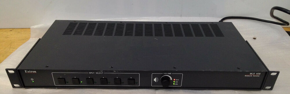 Drivers Update: Extron MLS 406MA Switcher