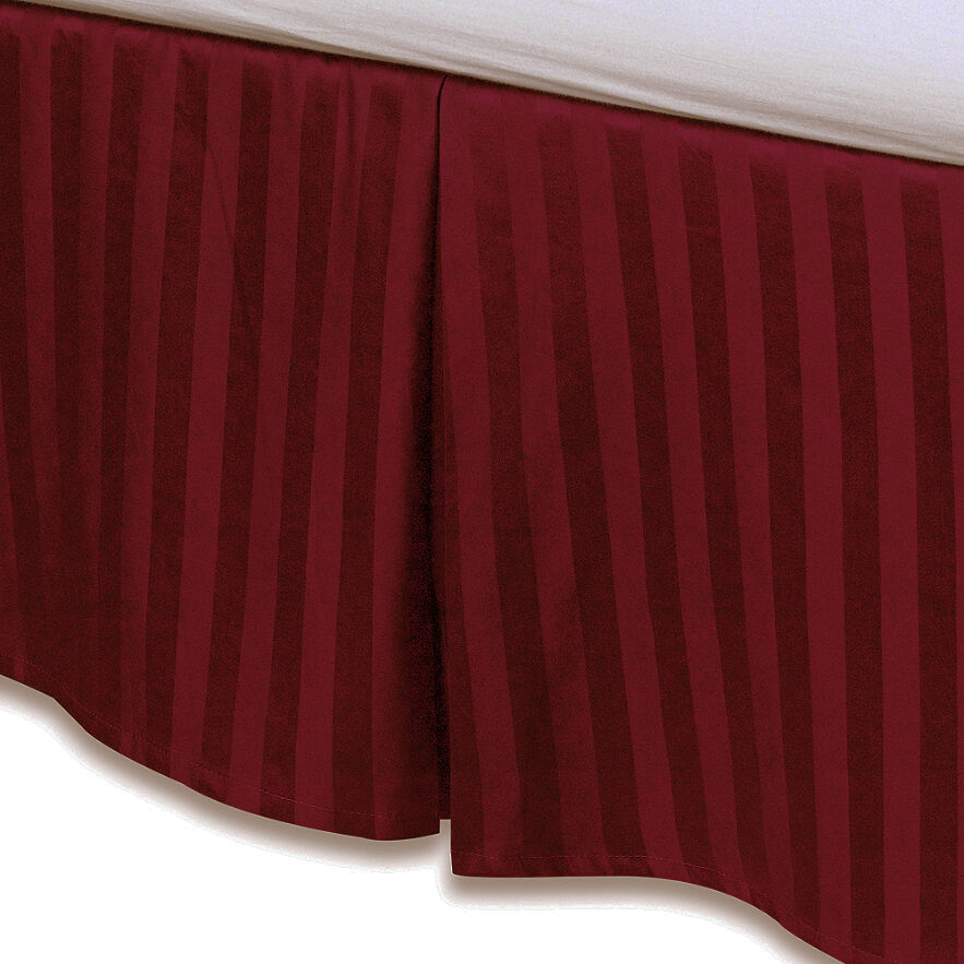 Red luxury bed skirt 100 egyptian cotton 500 thread for Luxury hotel 660 collection bed skirt