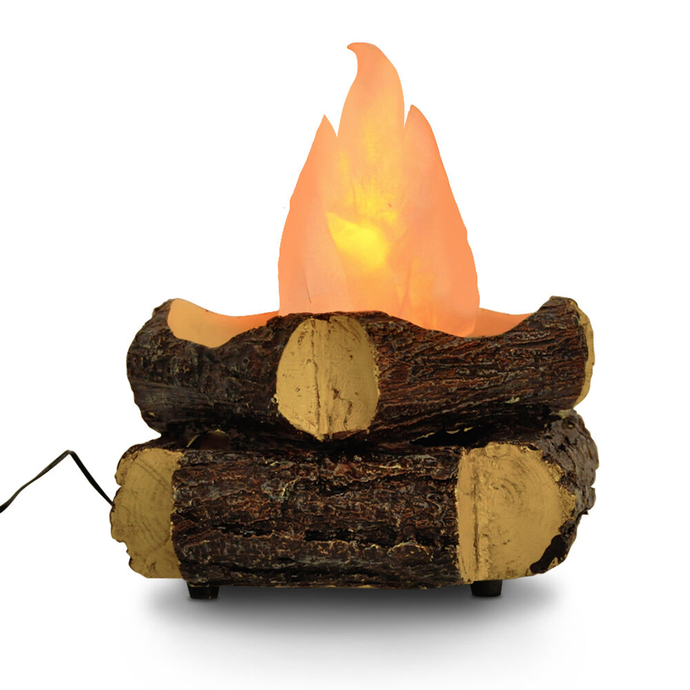Novelty Artificial Log Wood Camp Fire Led Silk Flame Floor Table Lamp Lighting Ebay