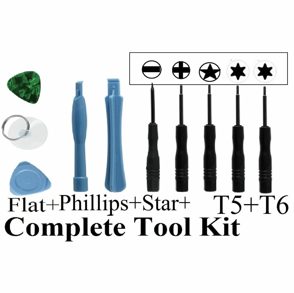 10 in1 repair opening pry tools screwdriver kit set for mobile phone iphone usa ebay. Black Bedroom Furniture Sets. Home Design Ideas