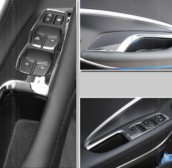 2011 Hyundai Santa Fe Exterior: FIT FOR HYUNDAI SANTA FE IX45 CHROME INSIDE DOOR WINDOW