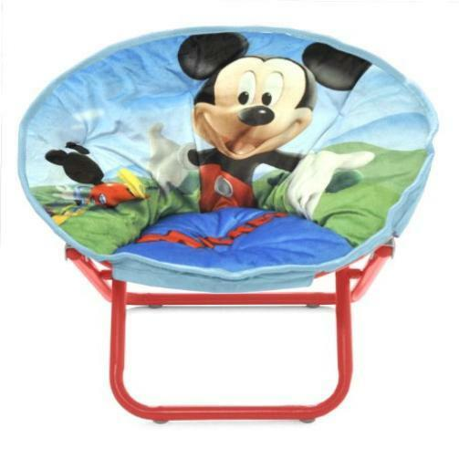 Kids new disney mickey mouse toddler saucer chair toy gift play childs