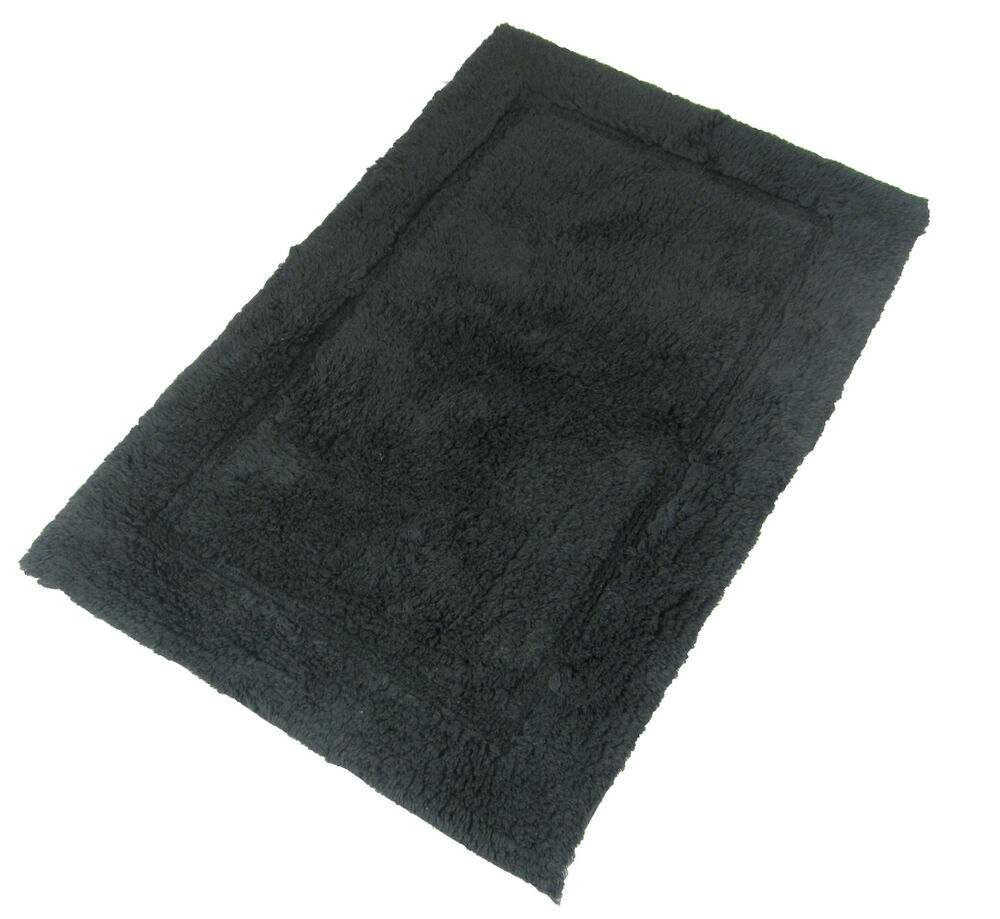 Luxurious 100 Soft Cotton Fluffy Charcoal Grey Rug