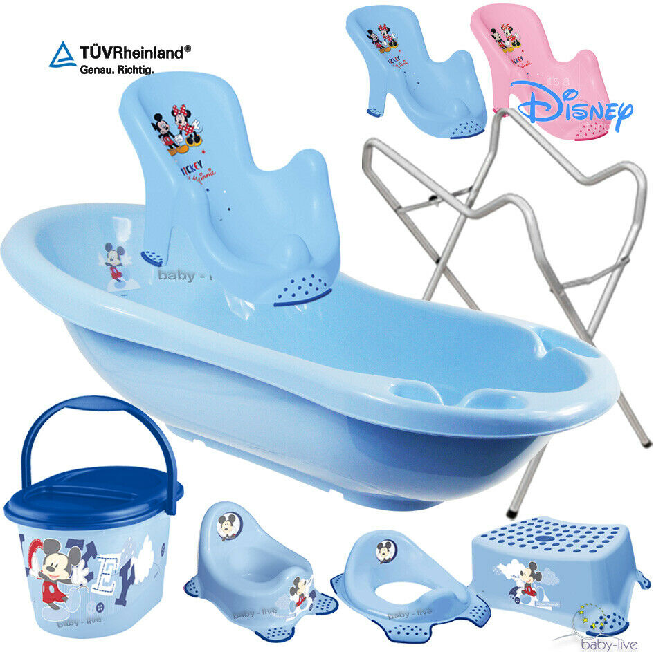 minnie mickey set babywanne badewanne abfluss st psel t pfchen mit ohne st nder ebay. Black Bedroom Furniture Sets. Home Design Ideas