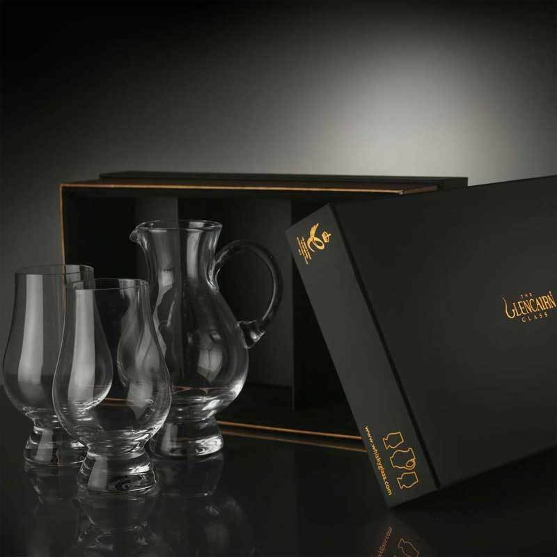 the glencairn official whisky nosing glass and jug set ebay. Black Bedroom Furniture Sets. Home Design Ideas