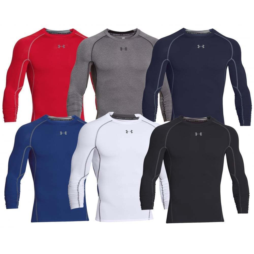 cee742ac7 Details about Under Armour Men's UA Compression Long Sleeve HeatGear T-Shirt  Sonic Workout Tee