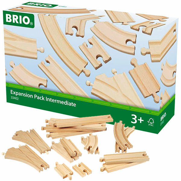 brio 33402 intermediate track pack 16 pieces for wooden train set ebay. Black Bedroom Furniture Sets. Home Design Ideas