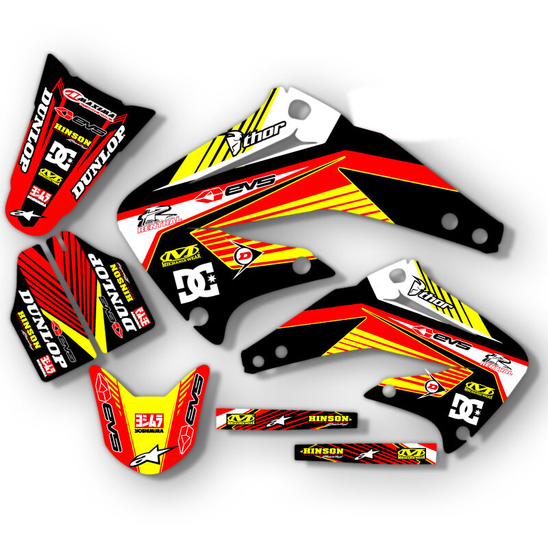 2000 2001 honda cr 125 250 r dirt bike graphics kit motocross decals mx deco ebay