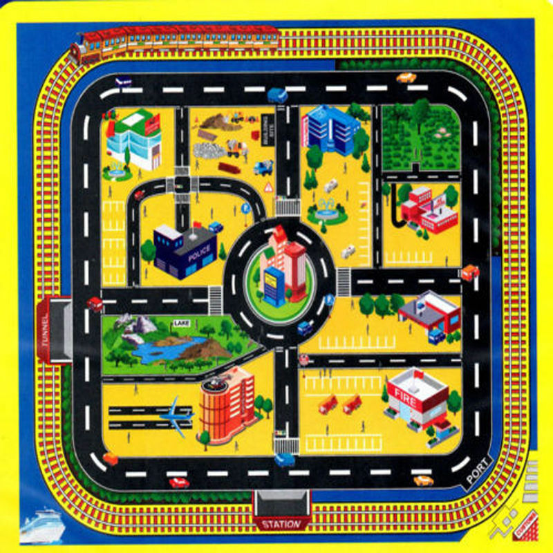 Giant City Play Mat Road Toy Car Track Child Baby Plastic