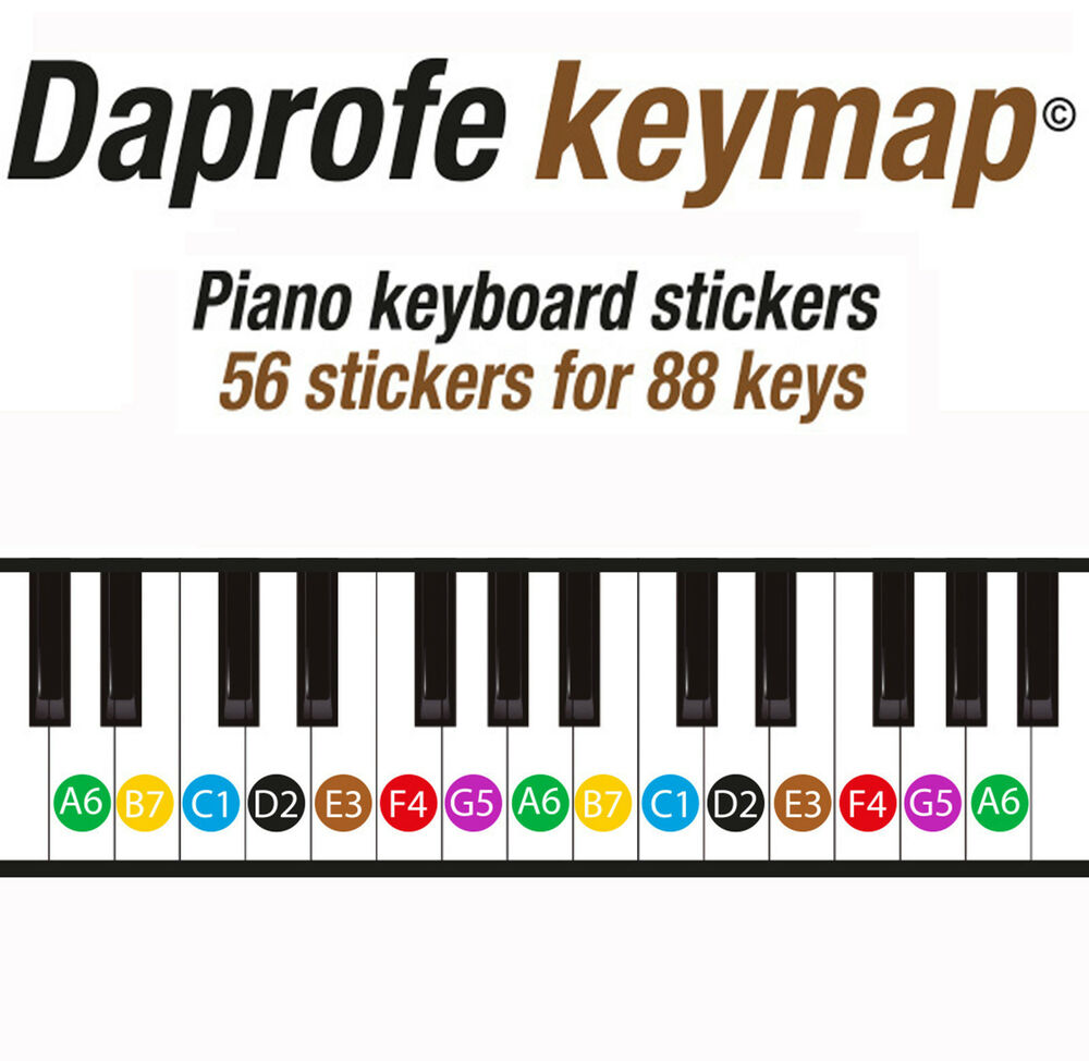 Crazy image intended for piano key stickers printable