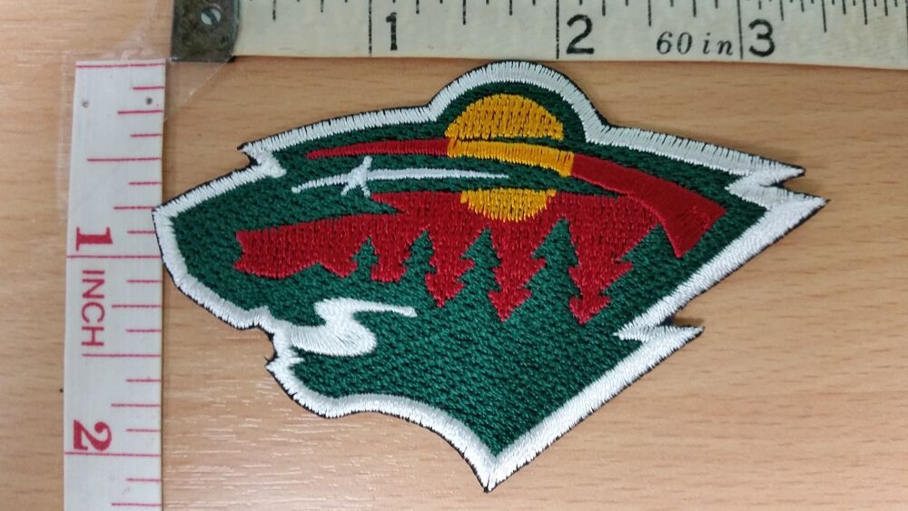 Nhl minnesota wild logo embroidered iron on patch high
