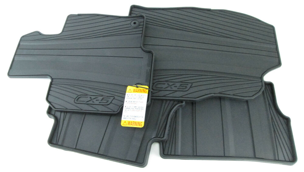 all weather floor mats 2013 2016 mazda cx 5 oem 0000 8b r12 ebay. Black Bedroom Furniture Sets. Home Design Ideas