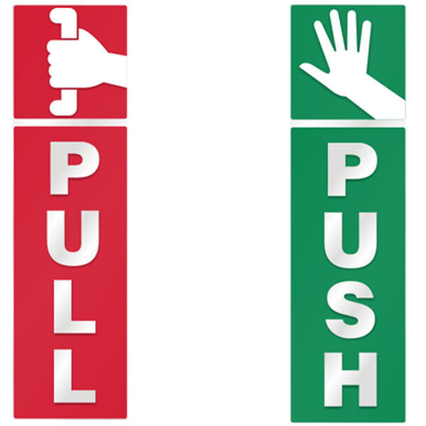 Push And Pull Door Window 2 Option Vinyl Decal Information