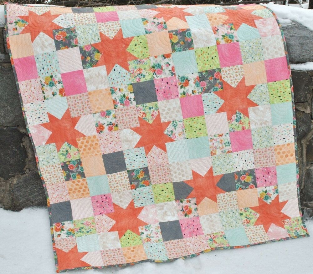Star Baby Or Lap Quilt Pattern Using Charm Squares Layer