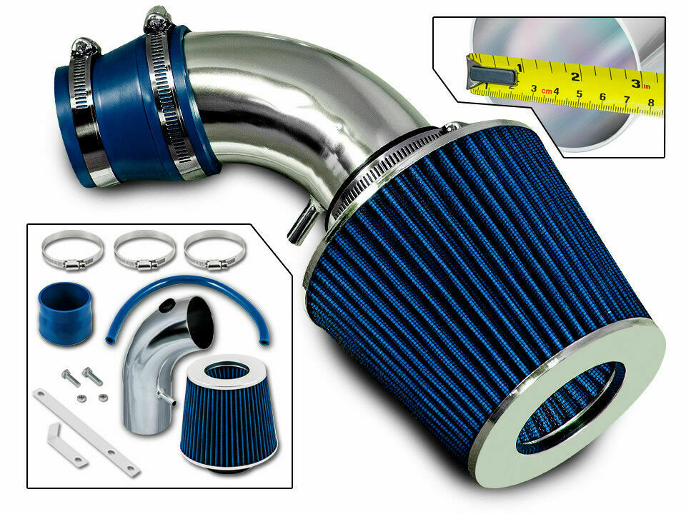 ram air intake kit + blue filter for 01-09 chrysler pt ... 2003 pt cruiser fuel filter #11