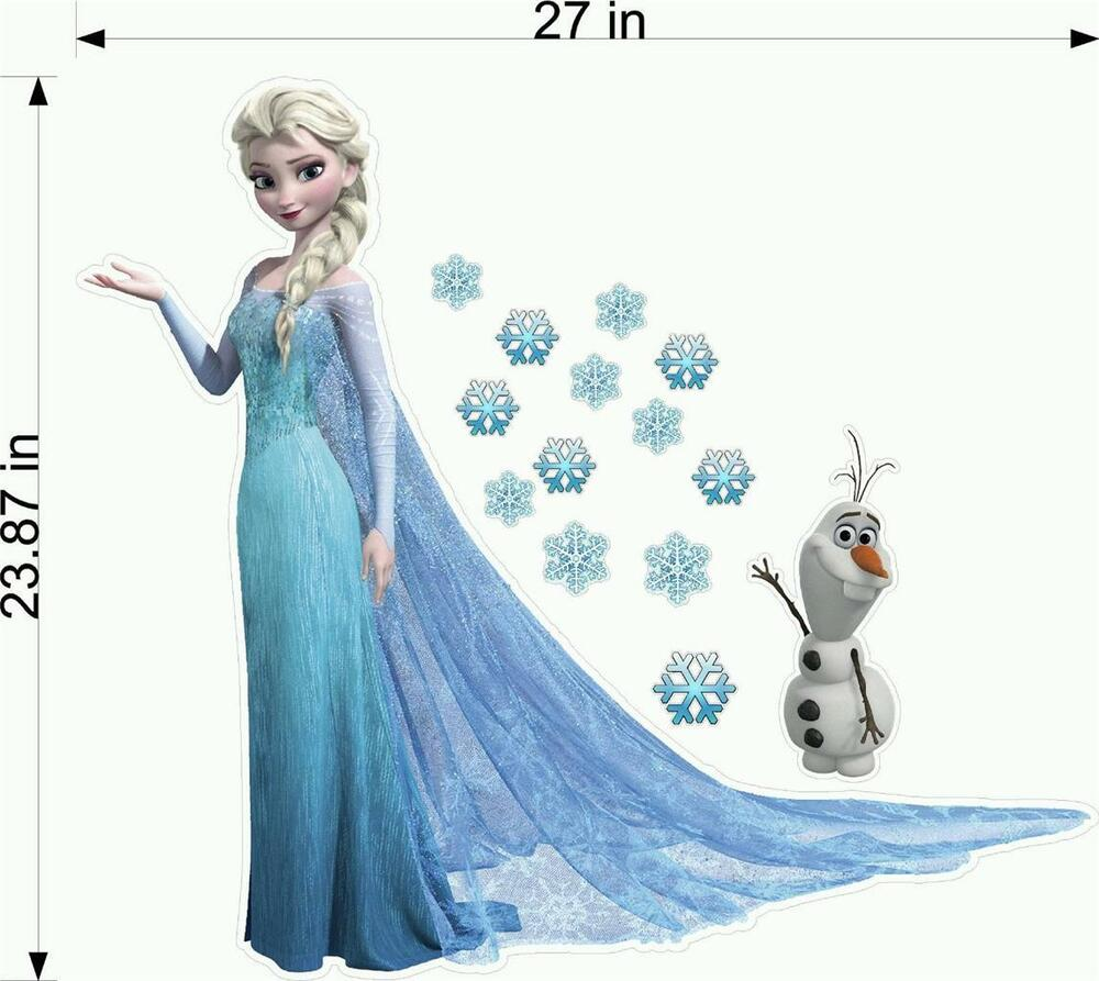 frozen elsa olaf fathead wall stickers decal kids bedroom decor 3d gifts ebay. Black Bedroom Furniture Sets. Home Design Ideas