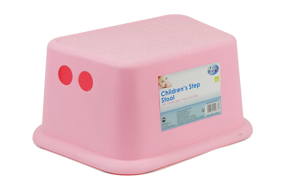 Kids Toddler Step Stool With Rubber Grips Sink Basin Potty
