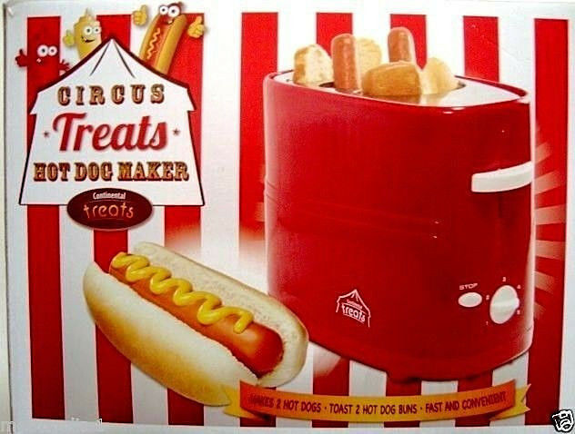 continental circus treats retro hot dog maker cooker grill pop up dogs buns ebay. Black Bedroom Furniture Sets. Home Design Ideas